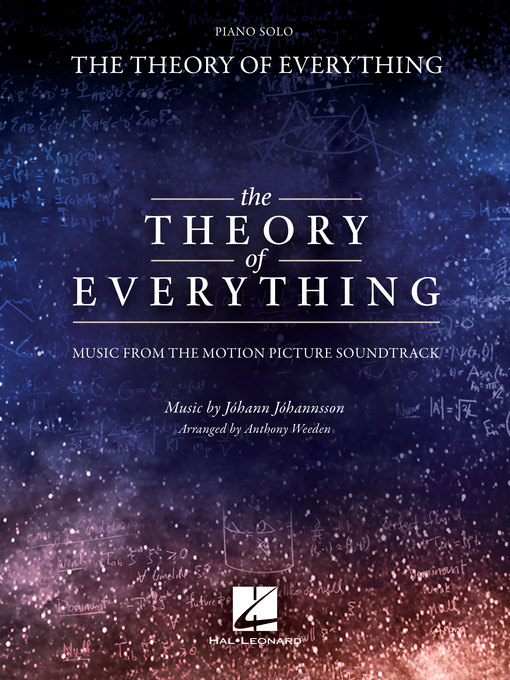 Title details for The Theory of Everything Songbook by Johann Johannsson - Available