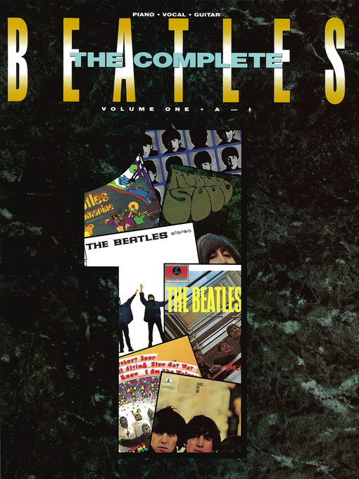 Title details for The Beatles Complete--Volume 1 Songbook by The Beatles - Available
