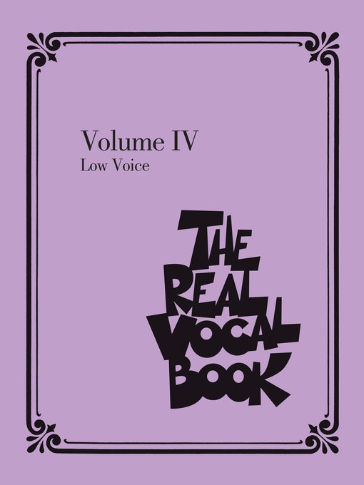 Title details for The Real Vocal Book--Volume IV by Hal Leonard Corp. - Available