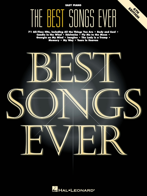 Title details for The Best Songs Ever  (Songbook) by Hal Leonard Corp. - Available
