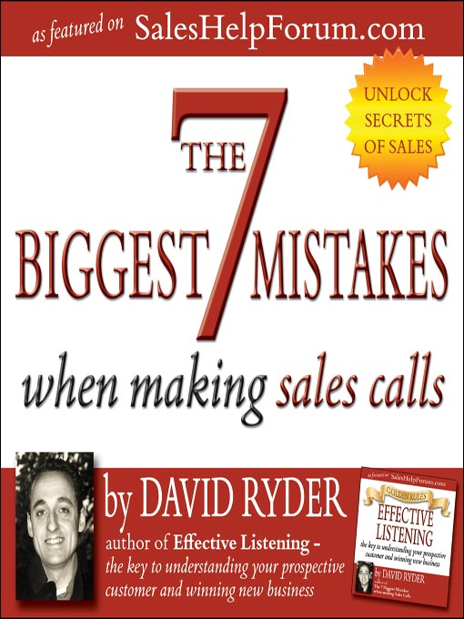 Cover of 7 Biggest Mistakes When Making Sales Calls