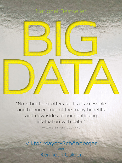 Title details for Big Data by Viktor Mayer-Schönberger - Available