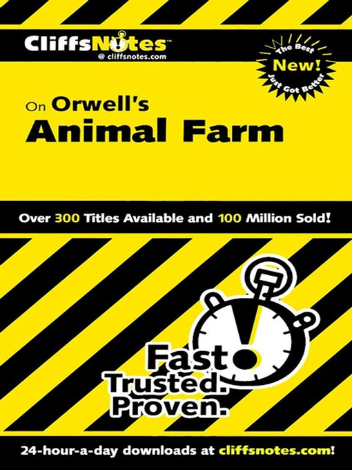 Title details for CliffsNotes on Orwell's Animal Farm by Daniel Moran - Available