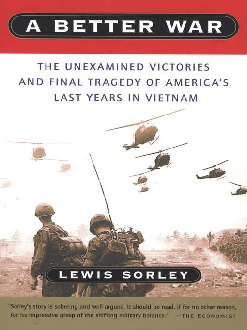 Title details for A Better War by Lewis Sorley - Available