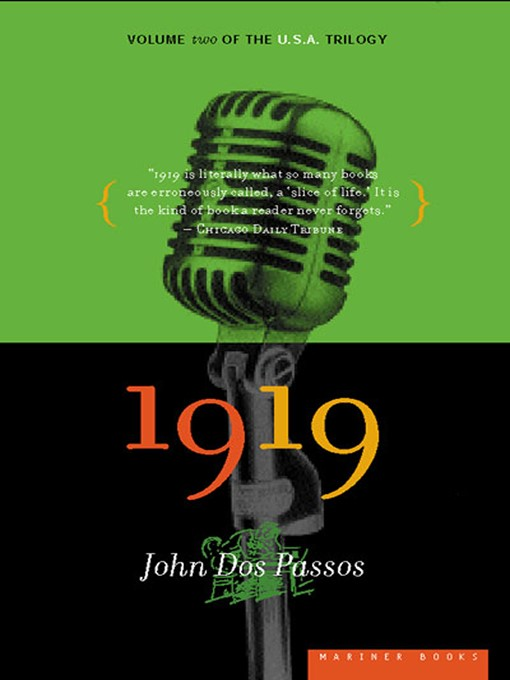 Title details for 1919 by John Dos Passos - Available