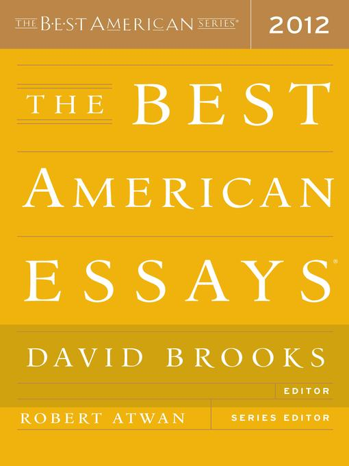 the best american essay The best american essays of