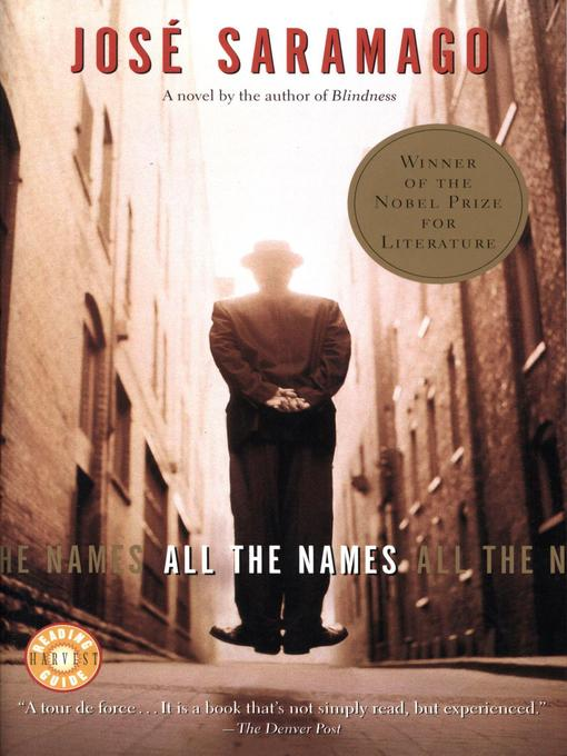 Title details for All the Names by José Saramago - Available