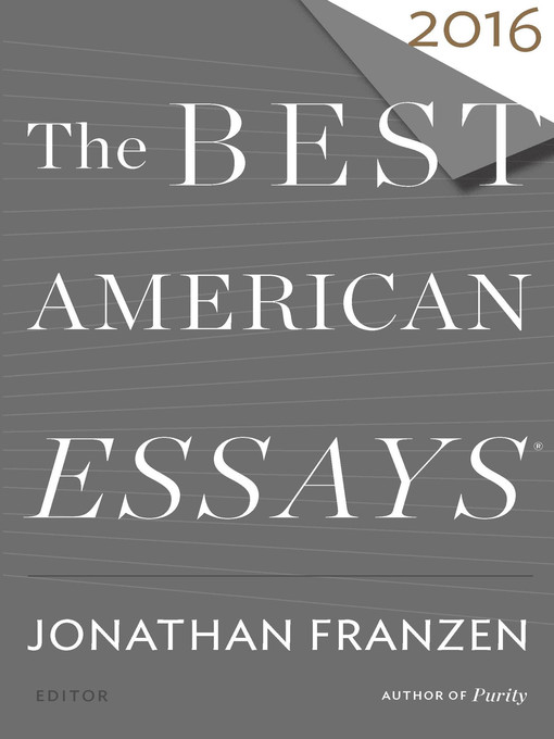 Title details for The Best American Essays 2016 by Jonathan Franzen - Available