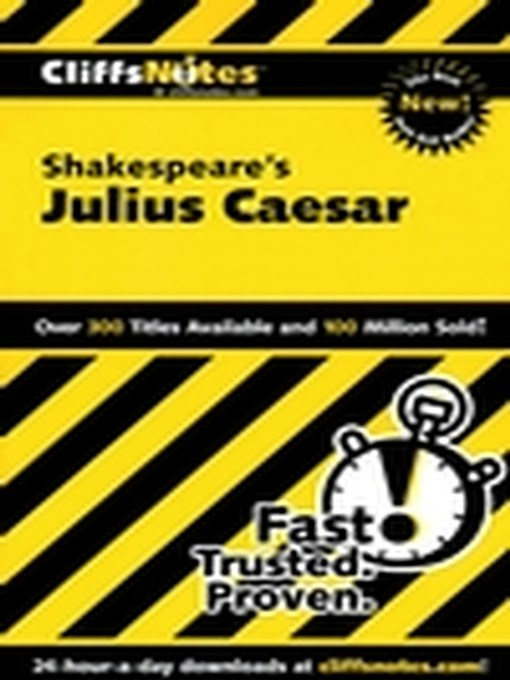 Title details for CliffsNotes on Shakespeare's Julius Caesar by James E Vickers - Available