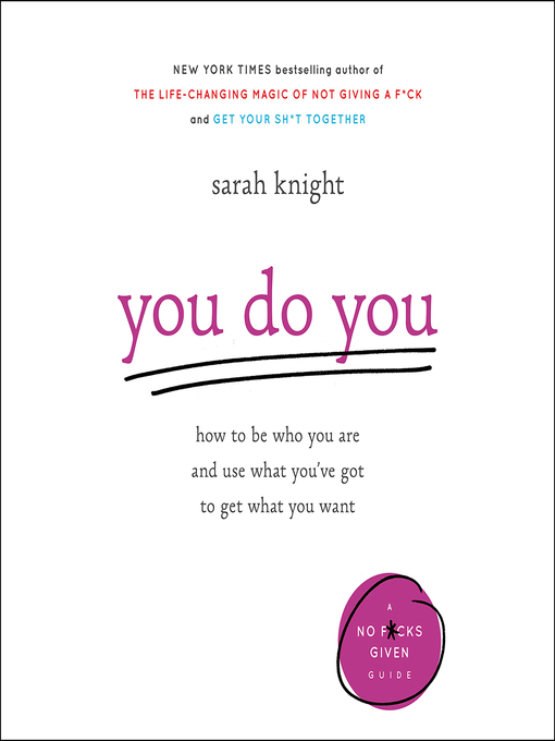 Title details for You Do You by Sarah Knight - Wait list
