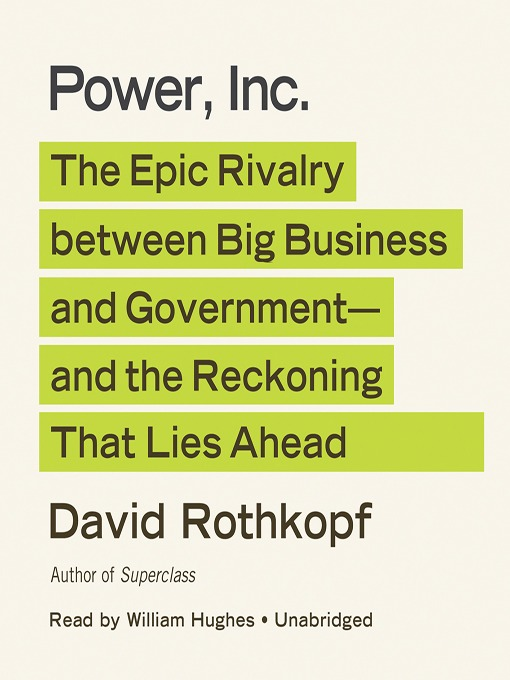 Title details for Power, Inc. by David Rothkopf - Available