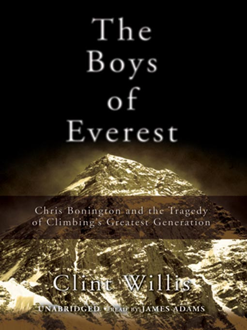 Title details for The Boys of Everest by Clint Willis - Available