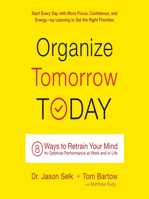 Title details for Organize Tomorrow Today by Jason Selk - Available