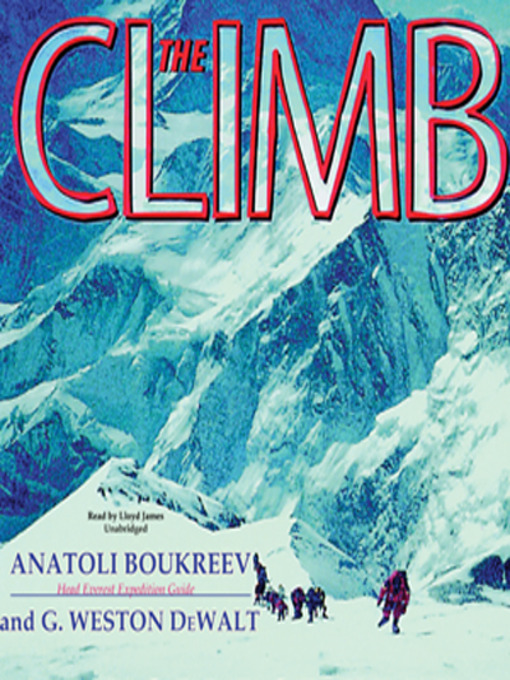 Title details for The Climb by Anatoli Boukreev - Wait list
