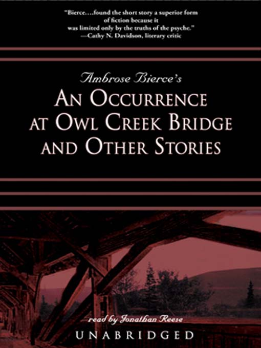 book analysis an occurrence at owl Analysis of an occurrence at owl creek bridge essays: over 180,000 analysis of an occurrence at owl creek bridge essays, analysis of an occurrence at owl creek bridge term papers, analysis of an occurrence at owl creek bridge research paper, book reports 184 990 essays, term and research papers available for unlimited access.