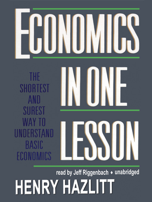Title details for Economics in One Lesson by Henry Hazlitt - Wait list
