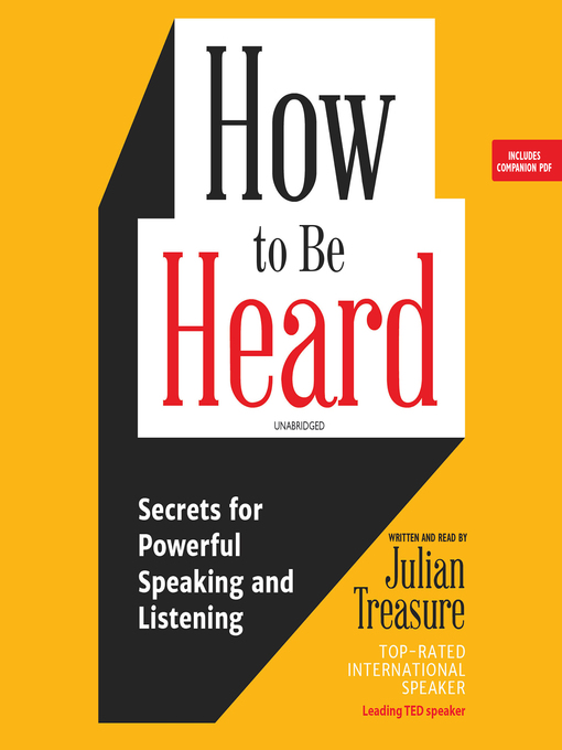Title details for How to Be Heard by Julian Treasure - Wait list