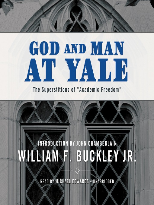 Cover of God & Man at Yale