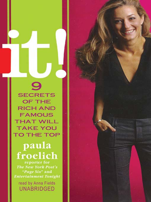 Title details for It! by Paula Froelich - Available