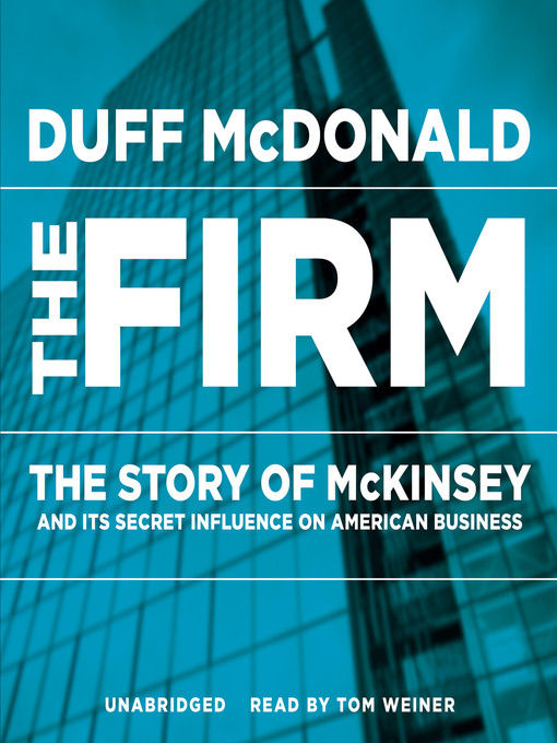 Title details for The Firm by Duff McDonald - Available
