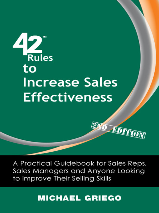 Cover of 42 Rules to Increase Sales Effectiveness