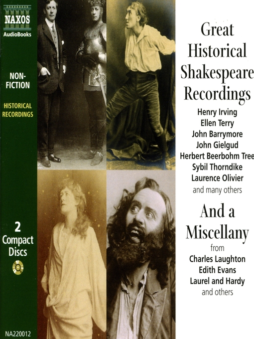 Title details for Great Historical Shakespeare Recordings by Anonymous - Available