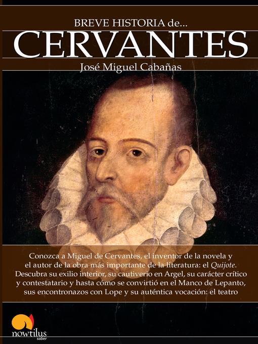 Title details for Breve historia de Cervantes by José Miguel Cabañas - Available