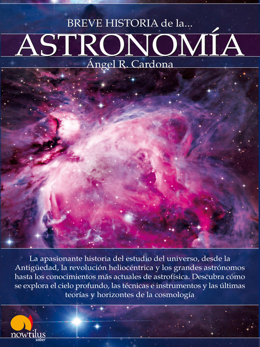 Title details for Breve historia de la astronomía by Ángel R. Cardona - Available