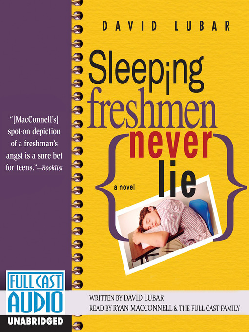 Title details for Sleeping Freshmen Never Lie by David Lubar - Available