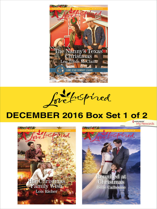 Title details for Harlequin Love Inspired December 2016, Box Set 1 of 2 by Lee Tobin McClain - Wait list