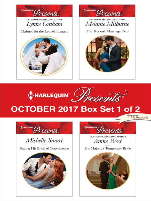 Title details for Harlequin Presents October 2017--Box Set 1 of 2 by Lynne Graham - Available