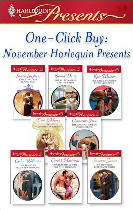 Title details for One-Click Buy: November Harlequin Presents: Expecting His Royal Baby\The Billionaire's Captive Bride\The Greek Tycoon's Unwilling Wife\The Boss's Christmas Baby\The Spanish Duke's Virgin Bride\The Italian's Pregnant Mistress by Susan Stephens - Available