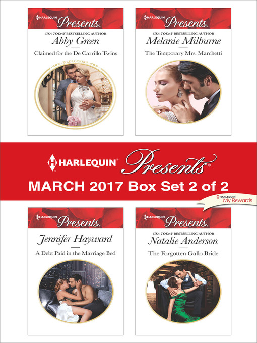 Title details for Harlequin Presents March 2017, Box Set 2 of 2 by Abby Green - Wait list