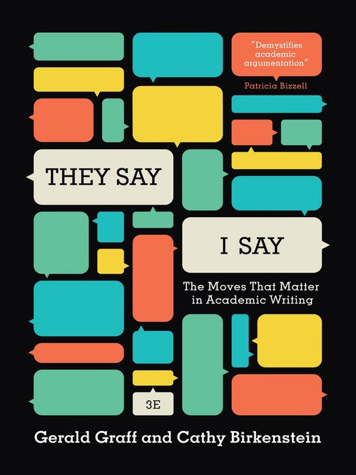 Title details for They Say, I Say by Cathy Birkenstein - Available