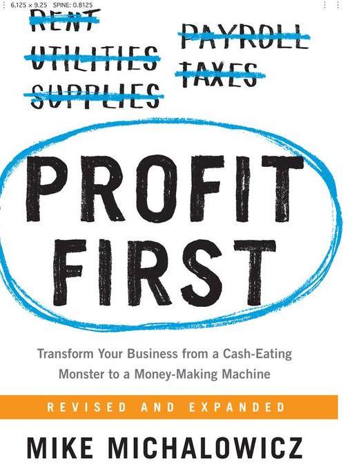 Title details for Profit First by Mike Michalowicz - Wait list