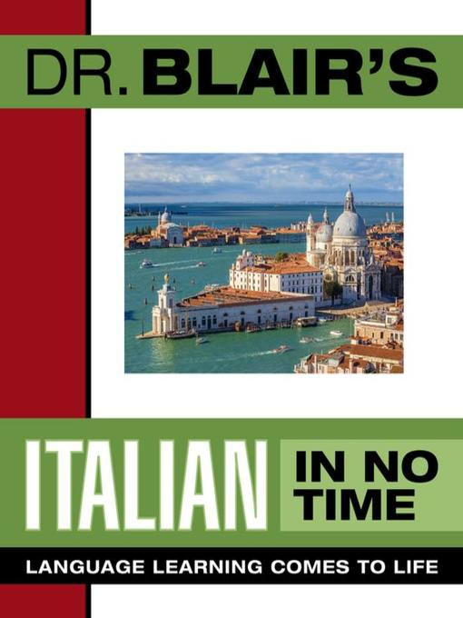 Title details for Dr. Blair's Italian In No Time by Robert Blair - Available