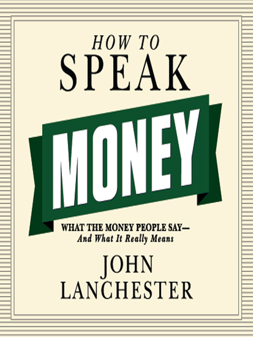 Cover of How to Speak Money