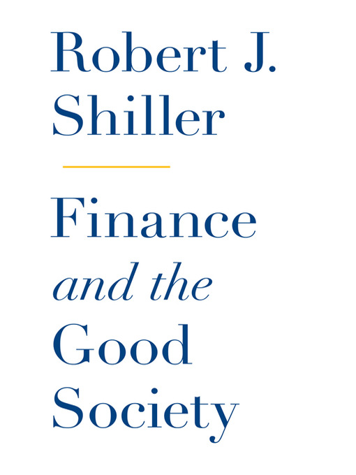 Cover of Finance and the Good Society