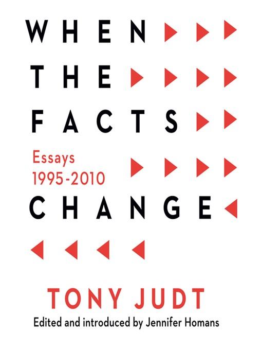 Tony judt essays on global warming