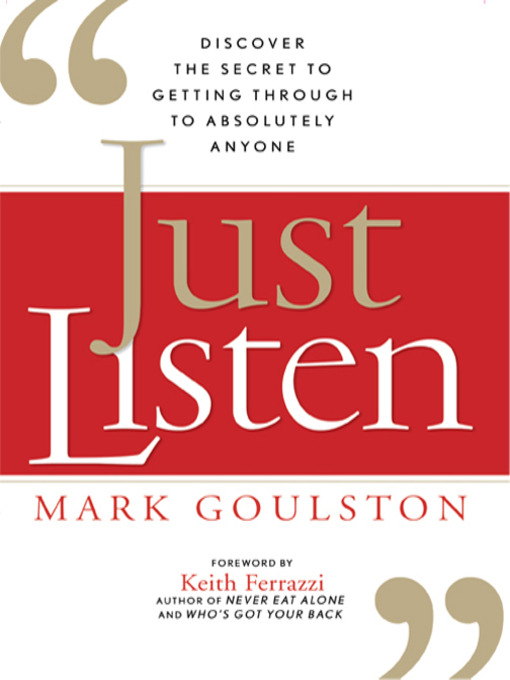 Cover of Just Listen
