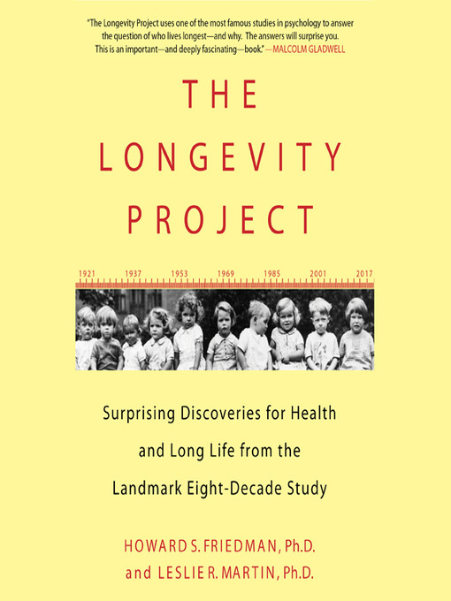 the longevity project Health and longevity research  dr friedman's primary research efforts are now focused on his archival prospective study of predictors and mediators of health and longevity in the 8-decade terman cohort this project studies females and males across the life-span (1921-2001) based on archival data first collected by lewis terman in the 1920's .