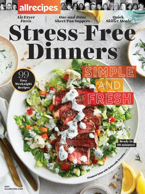 Title details for allrecipes Stress-Free Dinners by Meredith Corporation - Available