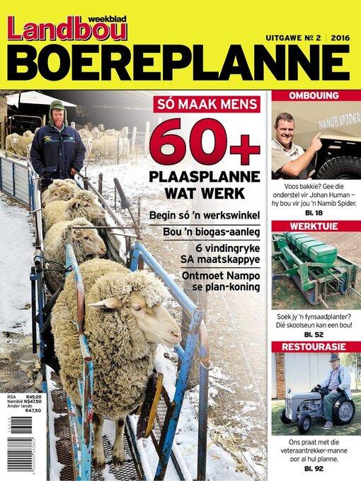 Landbou boereplanne