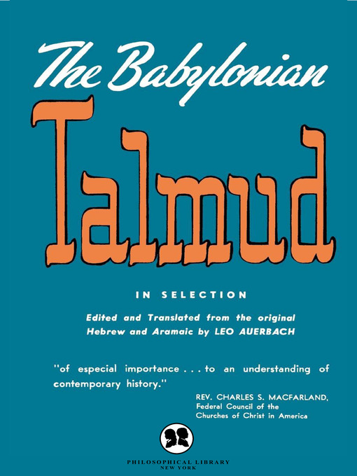 Title details for The Babylonian Talmud by Leo Auerbach - Available