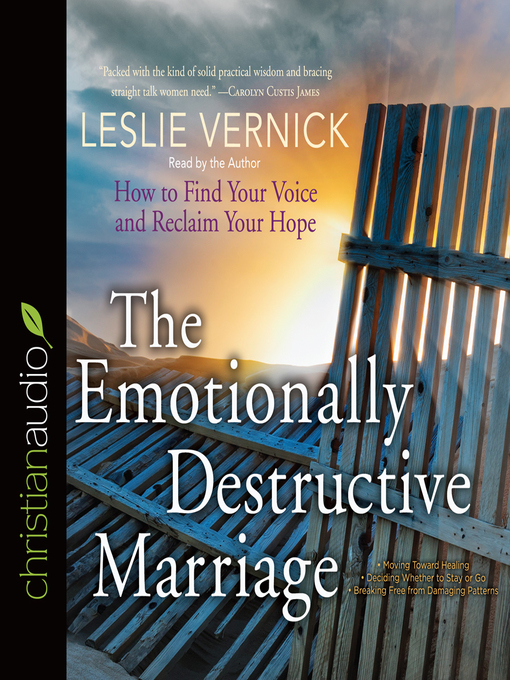 Cover of The Emotionally Destructive Marriage