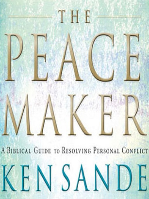 the peacemaker ken sande Ken sande is the founder of peacemaker ministries and relational wisdom 360 trained as an engineer, lawyer, and mediator, ken has conciliated hundreds of family, business, church, and legal conflicts.