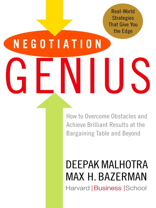 Title details for Negotiation Genius by Deepak Malhotra - Available