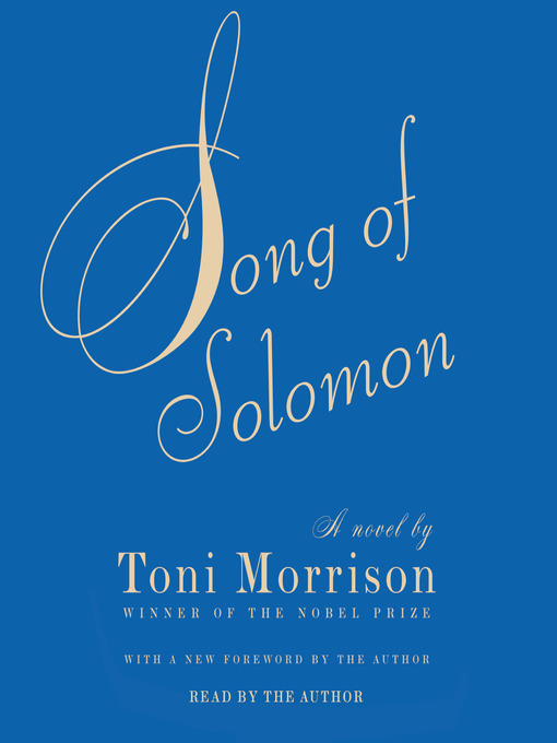 Title details for Song of Solomon by Toni Morrison - Wait list