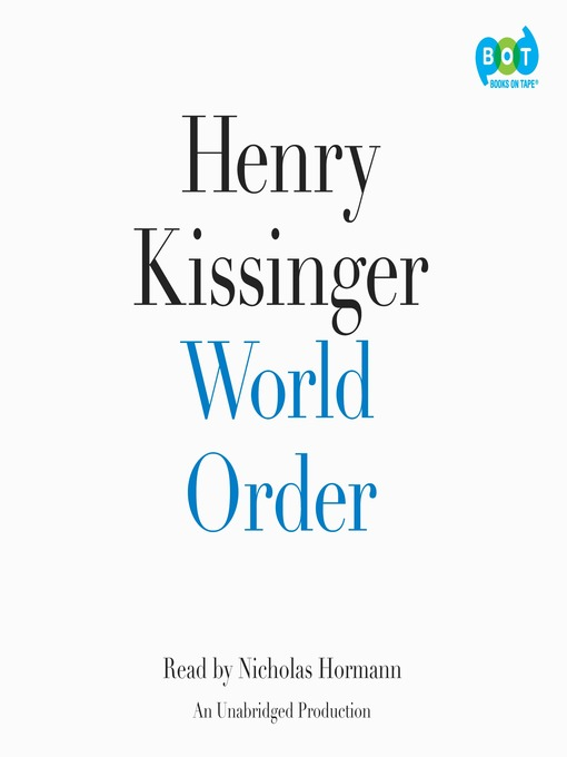 Title details for World Order by Henry Kissinger - Available