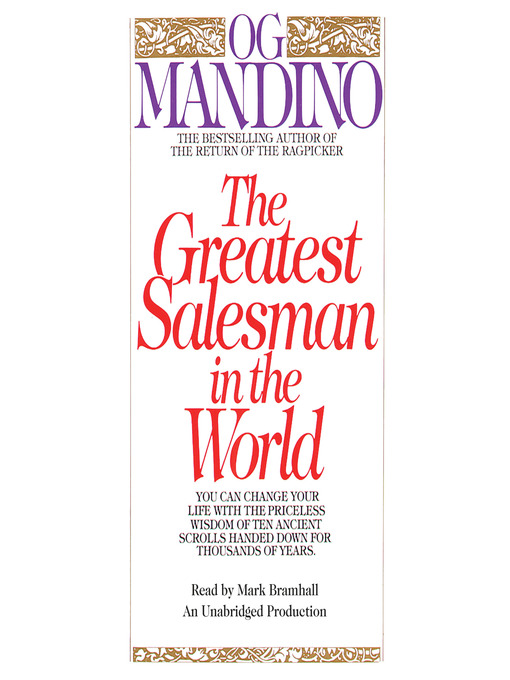 Title details for The Greatest Salesman in the World by Og Mandino - Wait list